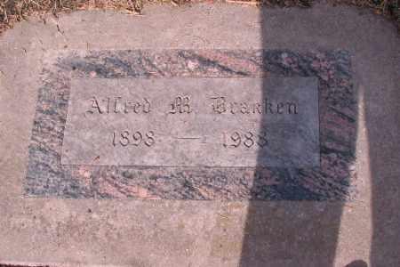 BRAKKEN, ALFRED - Cass County, North Dakota | ALFRED BRAKKEN - North Dakota Gravestone Photos