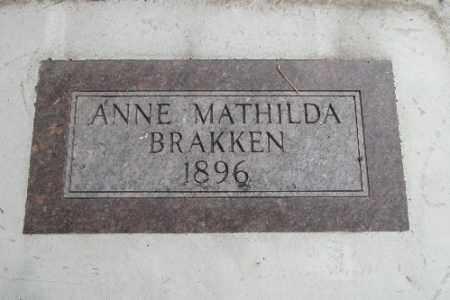 BRAKKEN, ANNE MATHILDA - Cass County, North Dakota   ANNE MATHILDA BRAKKEN - North Dakota Gravestone Photos