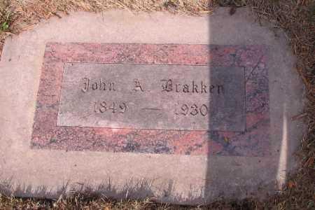 BRAKKEN, JOHN A. - Cass County, North Dakota | JOHN A. BRAKKEN - North Dakota Gravestone Photos