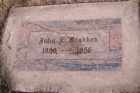 BRAKKEN, JULIA E. - Cass County, North Dakota   JULIA E. BRAKKEN - North Dakota Gravestone Photos