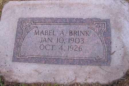 BRINK, MABEL A. - Cass County, North Dakota | MABEL A. BRINK - North Dakota Gravestone Photos