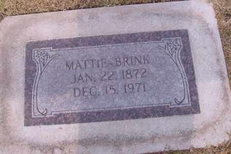BRINK, MATTIE - Cass County, North Dakota | MATTIE BRINK - North Dakota Gravestone Photos