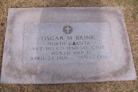 BRINK, OSCAR M. - Cass County, North Dakota | OSCAR M. BRINK - North Dakota Gravestone Photos