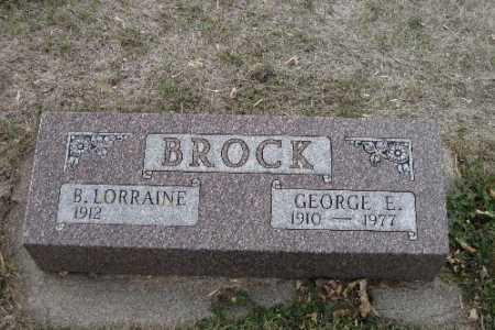 BROCK, GEORGE E. - Cass County, North Dakota | GEORGE E. BROCK - North Dakota Gravestone Photos