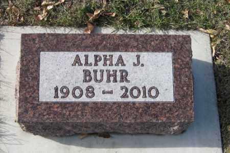 BUHR, ALPHA J. - Cass County, North Dakota | ALPHA J. BUHR - North Dakota Gravestone Photos