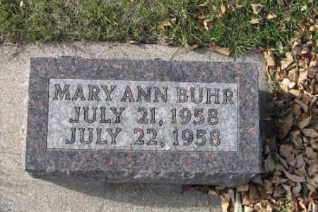BUHR, MARY ANN - Cass County, North Dakota | MARY ANN BUHR - North Dakota Gravestone Photos