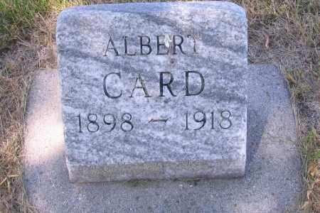 CARD, ALBERT - Cass County, North Dakota | ALBERT CARD - North Dakota Gravestone Photos