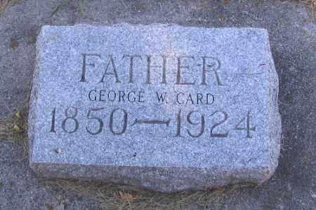 CARD, GEORGE W. - Cass County, North Dakota | GEORGE W. CARD - North Dakota Gravestone Photos