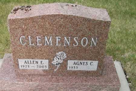 CLEMENSON, ALLEN E. - Cass County, North Dakota | ALLEN E. CLEMENSON - North Dakota Gravestone Photos