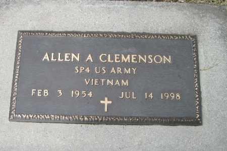 CLEMENSON, ALLEN A. - Cass County, North Dakota   ALLEN A. CLEMENSON - North Dakota Gravestone Photos