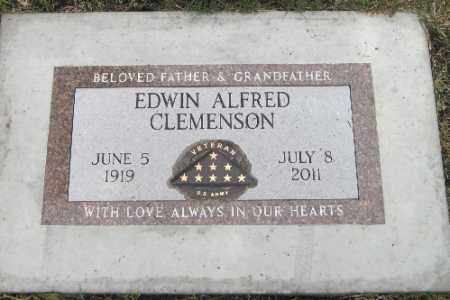 CLEMENSON, EDWIN ALFRED - Cass County, North Dakota | EDWIN ALFRED CLEMENSON - North Dakota Gravestone Photos