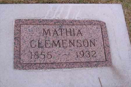 CLEMENSON, MATHHIA - Cass County, North Dakota | MATHHIA CLEMENSON - North Dakota Gravestone Photos