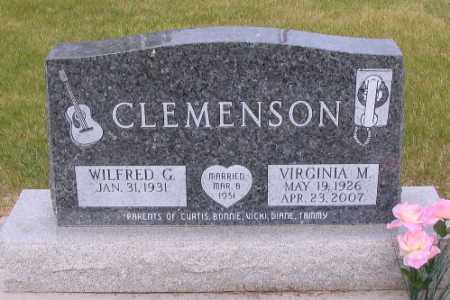CLEMENSON, VIRGINIA M. - Cass County, North Dakota   VIRGINIA M. CLEMENSON - North Dakota Gravestone Photos