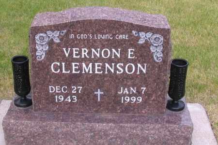 CLEMENSON, VERNON E. - Cass County, North Dakota   VERNON E. CLEMENSON - North Dakota Gravestone Photos