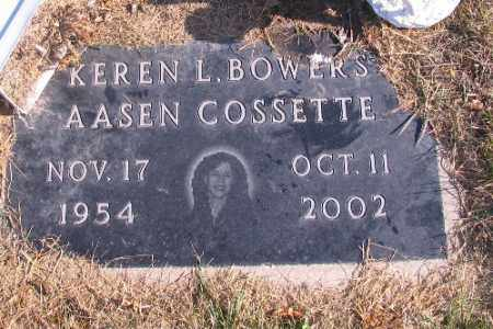 COSSETTE, KEREN L. - Cass County, North Dakota | KEREN L. COSSETTE - North Dakota Gravestone Photos