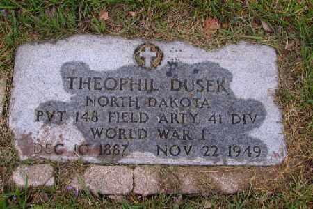 DUSEK, THEOPHIL - Cass County, North Dakota | THEOPHIL DUSEK - North Dakota Gravestone Photos