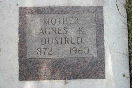 DUSTRUD, AGNES K. - Cass County, North Dakota | AGNES K. DUSTRUD - North Dakota Gravestone Photos
