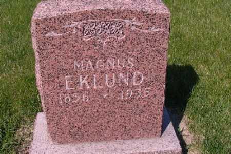 EKLUND, MAGNUS - Cass County, North Dakota | MAGNUS EKLUND - North Dakota Gravestone Photos