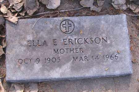 ERICKSON, ELLA E. - Cass County, North Dakota | ELLA E. ERICKSON - North Dakota Gravestone Photos