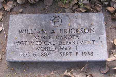 ERICKSON, WILLIAM A. - Cass County, North Dakota   WILLIAM A. ERICKSON - North Dakota Gravestone Photos