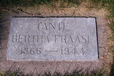 FRAASE, BERTHA - Cass County, North Dakota | BERTHA FRAASE - North Dakota Gravestone Photos