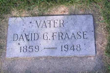 FRAASE, DAVID G. - Cass County, North Dakota   DAVID G. FRAASE - North Dakota Gravestone Photos
