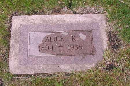 GALLAGHER, ALICE K. - Cass County, North Dakota   ALICE K. GALLAGHER - North Dakota Gravestone Photos