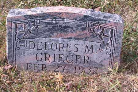 GRIEGER, DELORES M. - Cass County, North Dakota | DELORES M. GRIEGER - North Dakota Gravestone Photos
