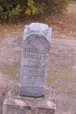 GRIEGER, PAUL C. - Cass County, North Dakota | PAUL C. GRIEGER - North Dakota Gravestone Photos