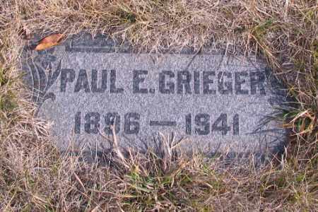 GRIEGER, PAUL E. - Cass County, North Dakota | PAUL E. GRIEGER - North Dakota Gravestone Photos
