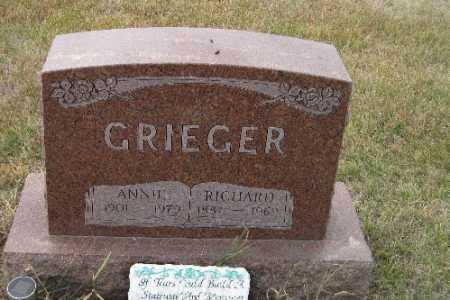 GRIEGER, ANNIE - Cass County, North Dakota | ANNIE GRIEGER - North Dakota Gravestone Photos