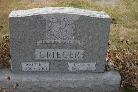 GRIEGER, EDNA M. - Cass County, North Dakota | EDNA M. GRIEGER - North Dakota Gravestone Photos