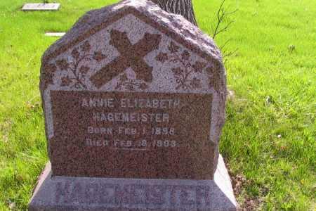 HAGEMEISTER, ANNIE ELIZABETH - Cass County, North Dakota | ANNIE ELIZABETH HAGEMEISTER - North Dakota Gravestone Photos