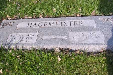 HAGEMEISTER, CAROLE ANN - Cass County, North Dakota | CAROLE ANN HAGEMEISTER - North Dakota Gravestone Photos