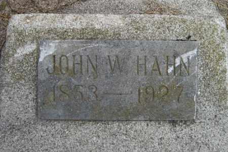 HAHN, JOHN W. - Cass County, North Dakota | JOHN W. HAHN - North Dakota Gravestone Photos