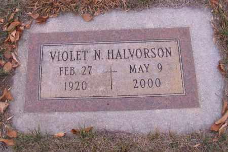HALVORSON, VIOLET N. - Cass County, North Dakota | VIOLET N. HALVORSON - North Dakota Gravestone Photos
