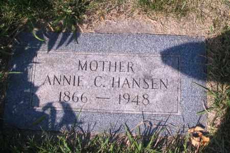 HANSEN, ANNIE C. - Cass County, North Dakota | ANNIE C. HANSEN - North Dakota Gravestone Photos