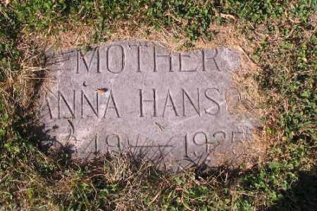 HANSON, ANNA - Cass County, North Dakota | ANNA HANSON - North Dakota Gravestone Photos