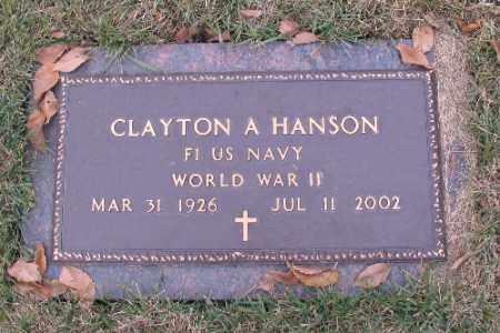 HANSON, CLAYTON A. - Cass County, North Dakota | CLAYTON A. HANSON - North Dakota Gravestone Photos