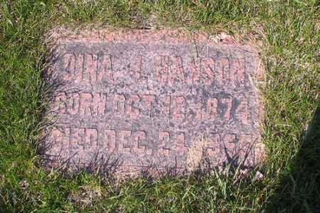 HANSON, DINA J. - Cass County, North Dakota | DINA J. HANSON - North Dakota Gravestone Photos
