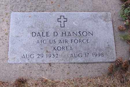 HANSON, DALE D. - Cass County, North Dakota | DALE D. HANSON - North Dakota Gravestone Photos