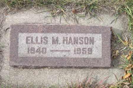 HANSON, ELLIS M. - Cass County, North Dakota   ELLIS M. HANSON - North Dakota Gravestone Photos