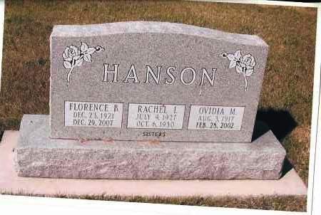 HANSON, FLORENCE B. - Cass County, North Dakota | FLORENCE B. HANSON - North Dakota Gravestone Photos