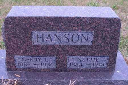 HANSON, NETTIE - Cass County, North Dakota | NETTIE HANSON - North Dakota Gravestone Photos