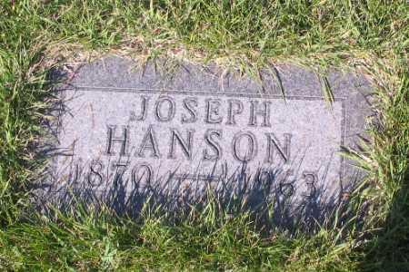 HANSON, JOSEPH - Cass County, North Dakota | JOSEPH HANSON - North Dakota Gravestone Photos