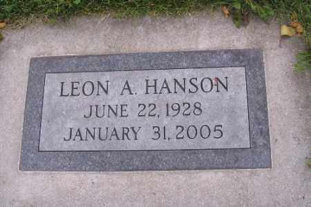 HANSON, LEON A. - Cass County, North Dakota | LEON A. HANSON - North Dakota Gravestone Photos