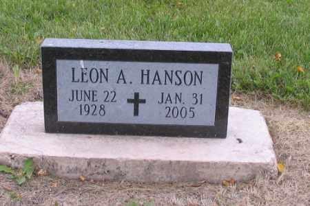 HANSON, LEON A. - Cass County, North Dakota   LEON A. HANSON - North Dakota Gravestone Photos