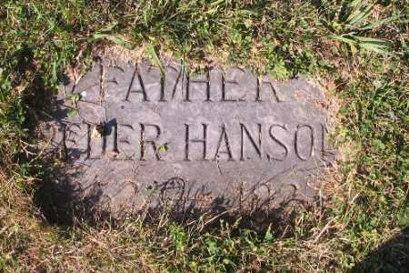HANSON, PETER - Cass County, North Dakota   PETER HANSON - North Dakota Gravestone Photos