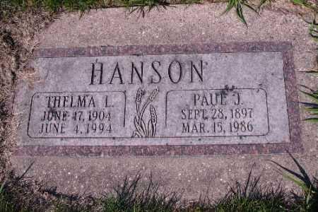 HANSON, PAUL J. - Cass County, North Dakota | PAUL J. HANSON - North Dakota Gravestone Photos