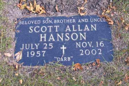 HANSON, SCOTT ALLAN - Cass County, North Dakota | SCOTT ALLAN HANSON - North Dakota Gravestone Photos